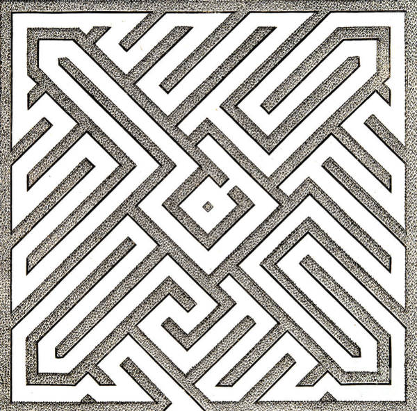 Wall Art - Drawing - Vintage Parterre Design by Jacques Mollet