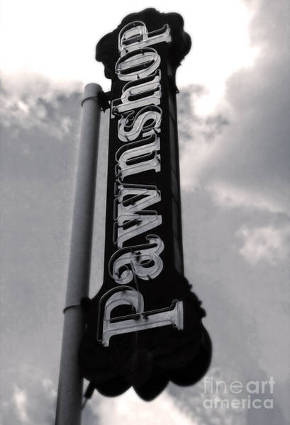 Photograph - Vintage Pawnshop Sign by Gregory Dyer