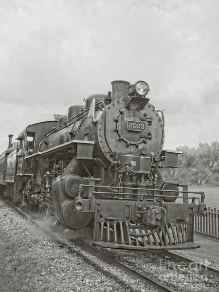 Wall Art - Photograph - Vintage Steam Locomotive by Edward Fielding