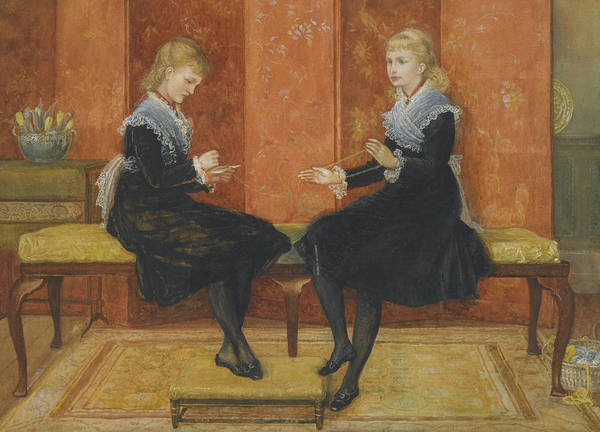 Wall Art - Painting - Violet And Lily by Walter Crane