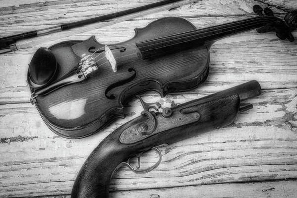 Wall Art - Photograph - Violin And Pistole by Garry Gay