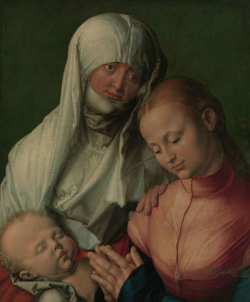 Saint Anne Painting - Virgin And Child With Saint Anne by Albrecht Durer