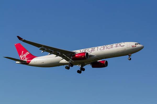 Wall Art - Photograph - Virgin Atlantic Airbus A330 by David Pyatt