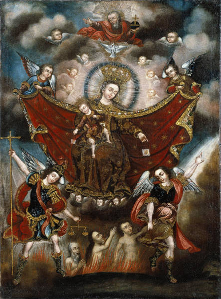 Saving Painting - Virgin Of Carmel Saving Souls In Purgatory by Unknown