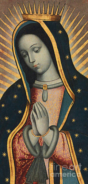 Latina Painting - Virgin Of Guadalupe by Nicolas Enriquez