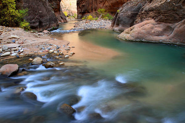 Photograph - Virgin River In Zion National Park by Pierre Leclerc Photography