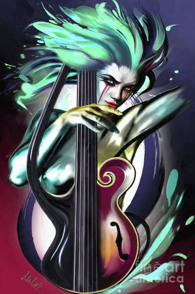 Bass Guitar Painting - Virgo by Melanie D