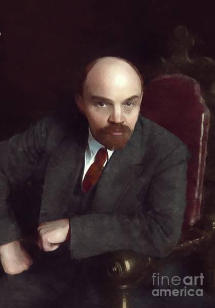 Lenin Painting - Vladimir Lenin, History Portraits by Mary Bassett