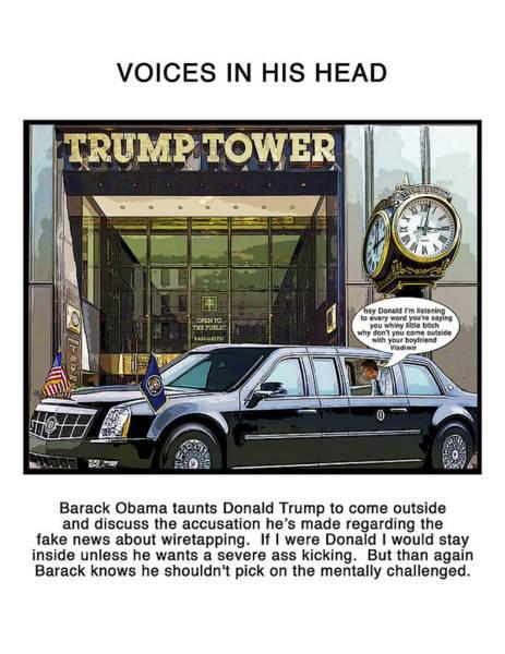Trump Digital Art - Voices by Joe  Palermo