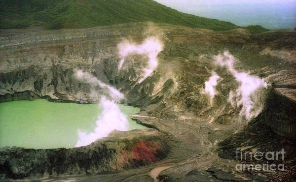 Photograph - volcan Poas by Ted Pollard