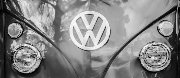 Wall Art - Photograph - Volkswagen Vw Bus -0108bw83 by Jill Reger