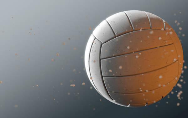 Wake Digital Art - Volleyball In Flight by Allan Swart