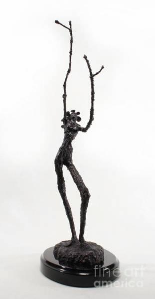 Sculpture - Votary Of The Rain A Sculpture By Adam Long by Adam Long