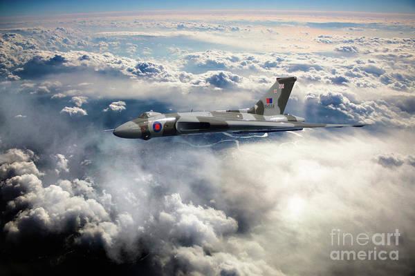 Falklands Digital Art - Vulcan Sky by J Biggadike