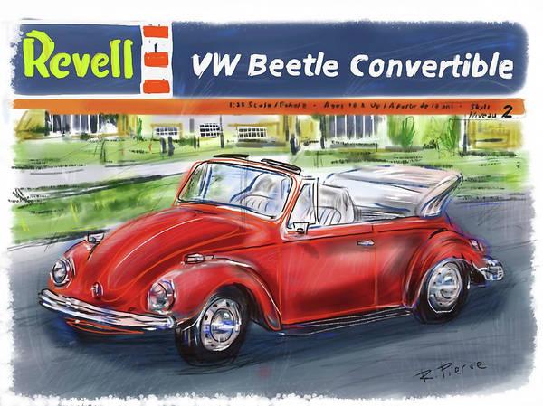 Wall Art - Digital Art - Vw Beetle by Russell Pierce