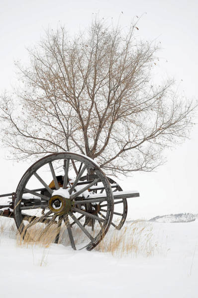 Wagon In The Snow Art Print