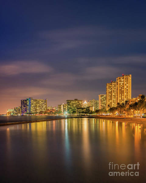 Long Island City Photograph - Waikiki Beach - Honolulu by Henk Meijer Photography