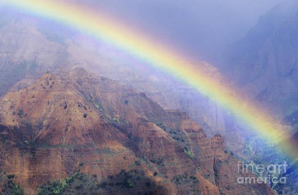 Expanse Photograph - Waimea Canyon Rainbow by Brent Black - Printscapes