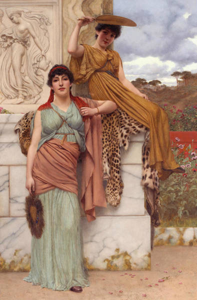 Wall Art - Painting - Waiting For The Procession by John William Godward