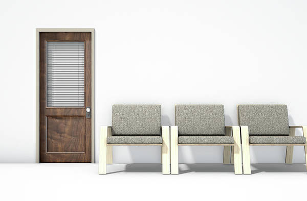 Doorway Digital Art - Waiting Room With Chairs by Allan Swart