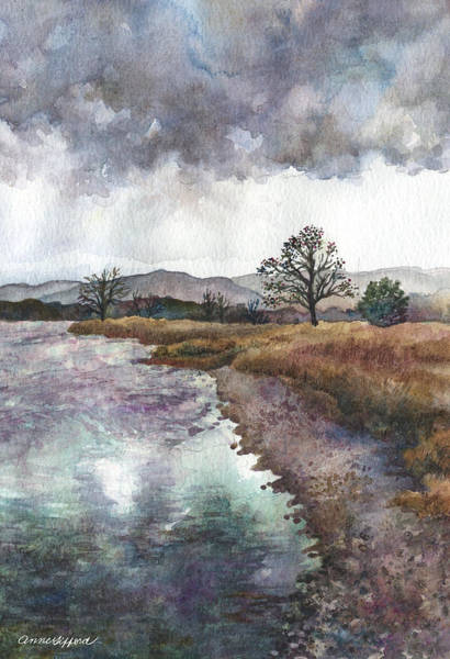 Painting - Walden Ponds On An April Evening by Anne Gifford