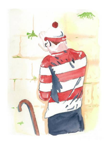 Wall Art - Mixed Media - Waldo Finds Himself by Anshie Kagan