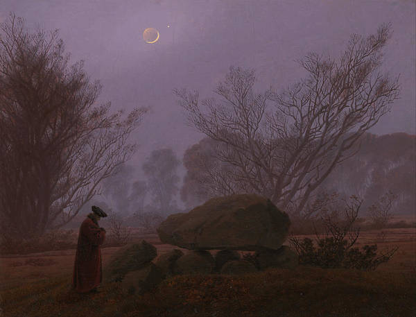 Painting - Walk At Dusk by Caspar David Friedrich