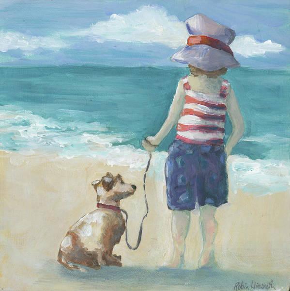 Wall Art - Painting - Walk The Dog by Robin Wiesneth