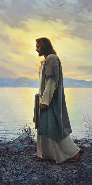 Shores Wall Art - Painting - Walk With Me  by Greg Olsen