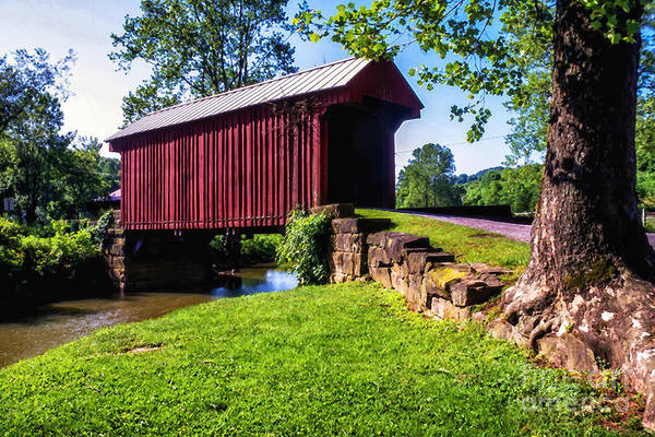 Photograph - Walkersville Covered Bridge by Thomas R Fletcher