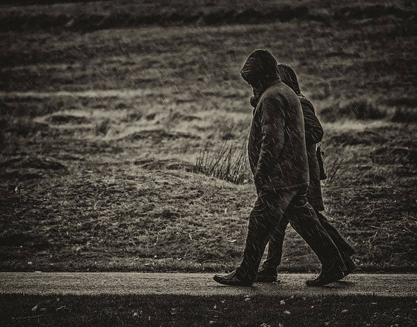 Photograph - Walking In The Rain by Nick Bywater