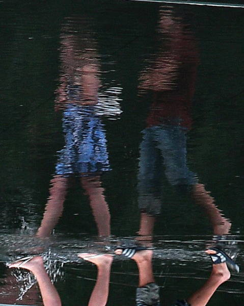 Photograph - Walking On Water by David Coblitz