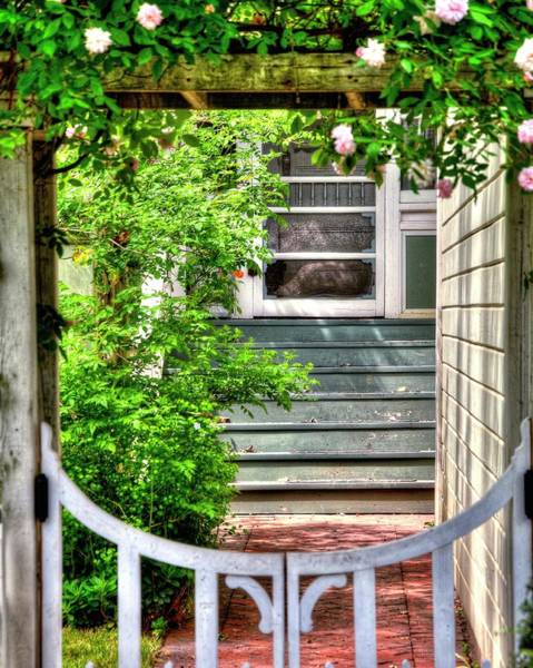 Photograph - Walkway Gate by Jerry Sodorff