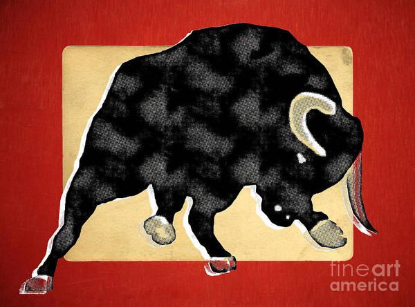 Wall Art - Painting - Wall Street Bull Market Series 2 by Edward Fielding