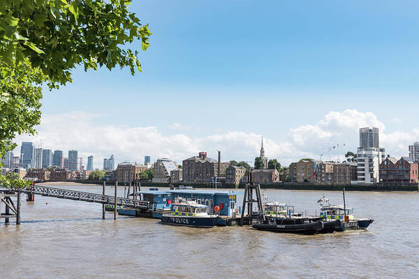 Photograph - Wapping River Police Waterloo Pier by Gary Eason