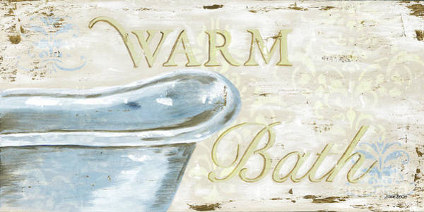 Tub Wall Art - Painting - Warm Bath 2 by Debbie DeWitt