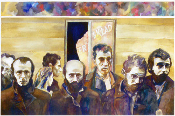 Redemption Painting - Warsaw Ghetto by Karl Frey