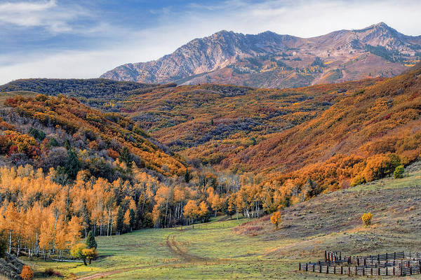 Strawberry Hills Wall Art - Photograph - Wasatch Moutains Utah by Douglas Pulsipher