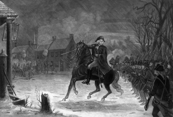 Patriot Drawing - Washington At The Battle Of Trenton by War Is Hell Store