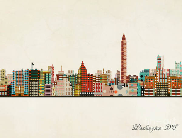 Wall Art - Painting - Washington Dc Skyline by Bri Buckley