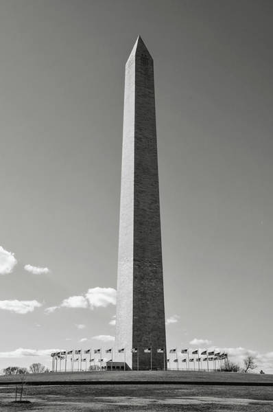 Photograph - Washington Memorial In The Winter by Brandon Bourdages