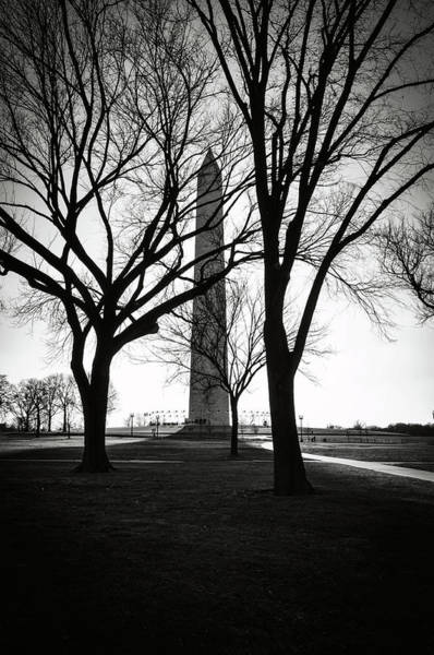 Photograph - Washington Monument In The Winter by Brandon Bourdages