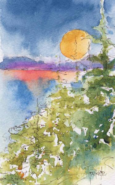 Painting - Waskesiu Sunset by Pat Katz