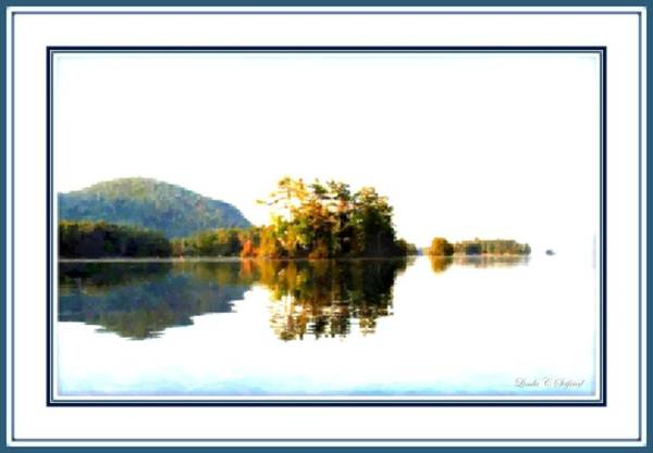 Adirondack Mountains Painting - Water Like Glass by Linda Seifried