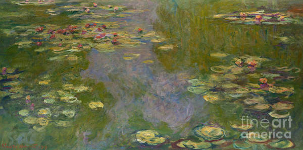 Wall Art - Painting - Water Lilies, 1919 by Claude Monet