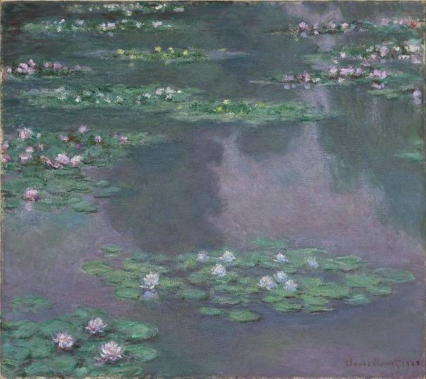 Wall Art - Painting - Water Lilies Claude Monet by MotionAge Designs