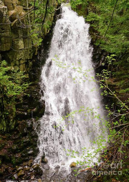 Photograph - Water Roaring Down Cascade Falls, Farmington, Maine #30377 by John Bald