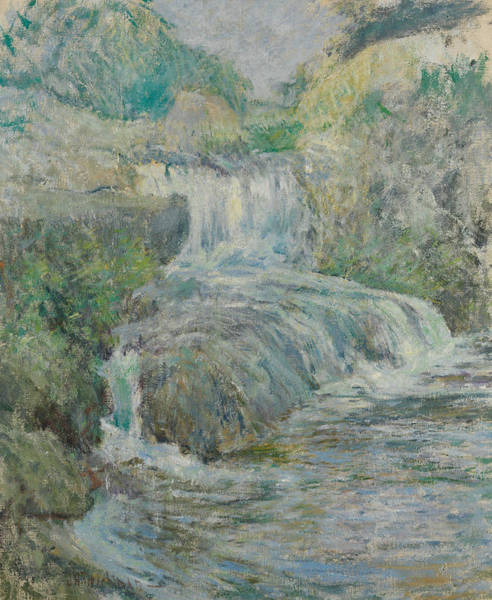 Painting - Waterfall by John Henry Twachtman