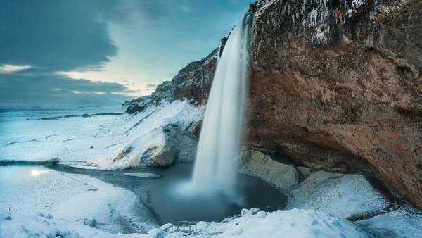 Landscape Digital Art - Waterfall by Maye Loeser