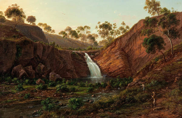 Painting - Waterfall On The Clyde River, Tasmania by Eugene von Guerard